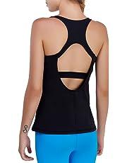 Matymats Women's Yoga Tank Tops Workout Gym Sleeveless T-shirts Open Back Vests Fast Dry