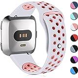 HUMENN Armband Für Fitbit Versa, Weich Silikon Ersatzarmband Smartwatch Sport Band für/Special Edition Smartwatch, Klein Groß
