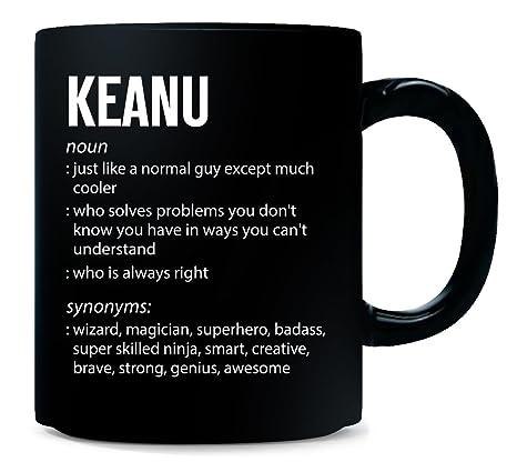 amazon com keanu name meaning xmas birthday gift mug kitchen