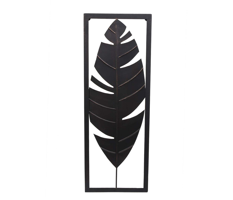 Escultura Parede Folha Etna Cobre 73X27cm