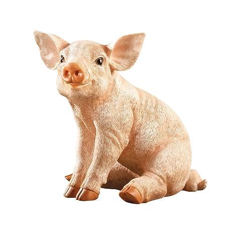 Superieur Baby Pig Garden Statue, Beige