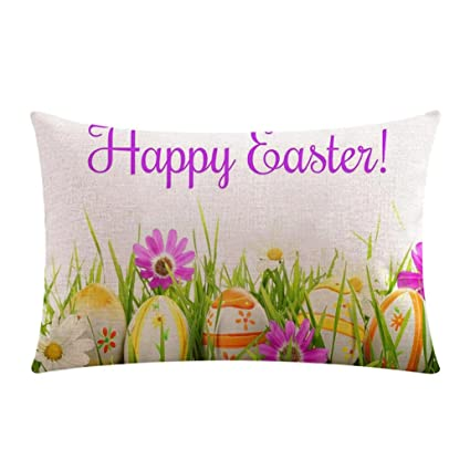 Amazon.com: Gessppo Easter Pillow Case, Sofa Festival ...