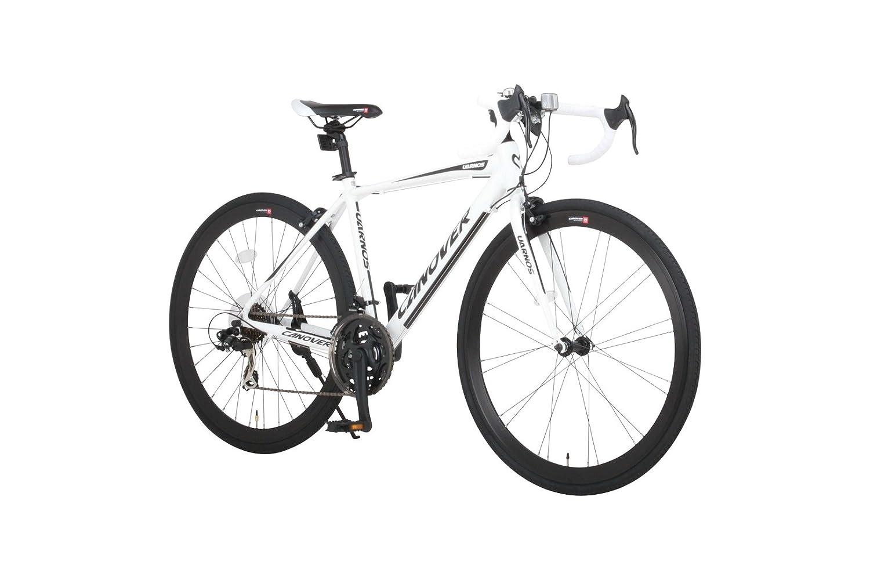 CANOVER(カノーバー) ロードバイク 700C シマノ21段変速 CAR-015(UARNOS) アルミフレーム フロントLEDライト付 [メーカー保証1年] B01N13UXNP ホワイト ホワイト