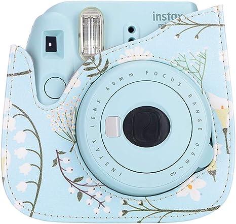 Raspbery Estuche para c/ámara Fujifilm Instax Mini 8//8 // 9 Estuche para c/ámara Bolsa PU Pel/ícula instant/ánea de Cuero