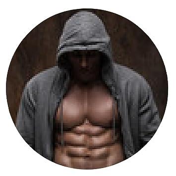 Ouverte De Veste La Avec Musclé Musclée Poitrine Homme Souris Tapis 10x6O1