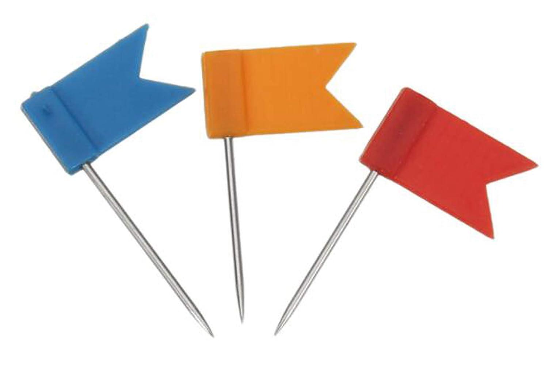 Istloho 100 Piezas Chinchetas de Bandera de u/ñas para Mapa//Fotos//Cart/ón 7 Colores Variados