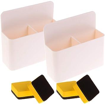 Locolo - 2 paquetes de soporte magnético para pizarra blanca ...