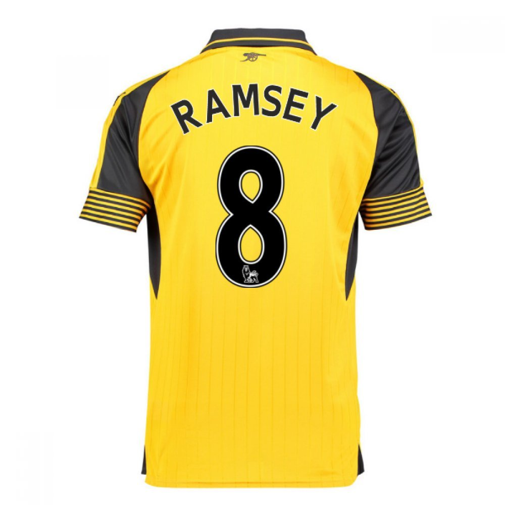 2016-17 Arsenal Away Football Soccer T-Shirt Trikot (Aaron Ramsey 8) - Kids