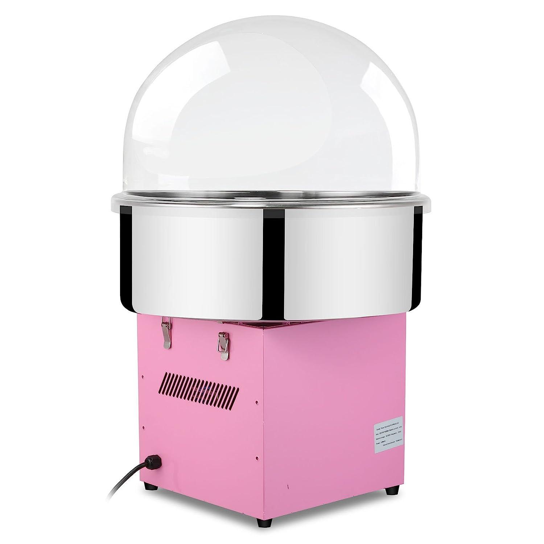 Autovictoria Máquina de Algodón de Azúcar Acero Inoxidable Máquina Eléctrica para hacer Algodón de Azúcar Cotton Candy Machine Commercial (con Cubierta): ...