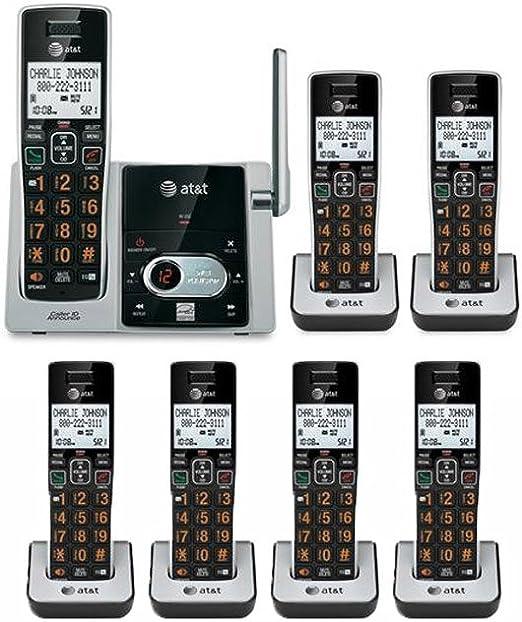 AT & T CL82313 teléfono inalámbrico sistema con 7 terminales, sistema de contestador, Cid, producto nuevo: Amazon.es: Electrónica