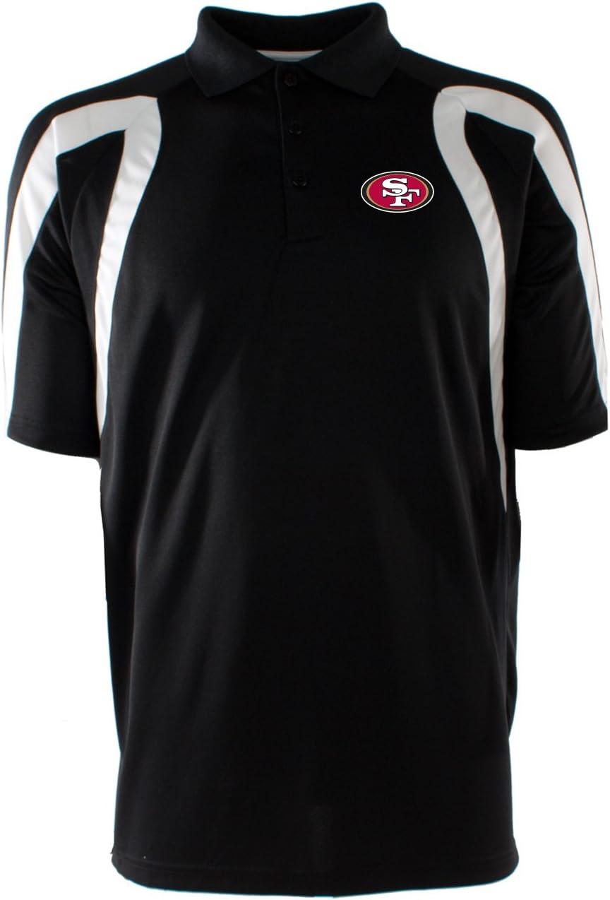Antigua San Francisco 49ers de la NFL Hombres Punto Desierto seco Camiseta de Polo, Hombre, Negro/Blanco, XL: Amazon.es: Deportes y aire libre