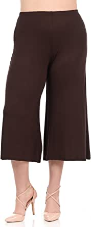 Pastel by Vivienne Women's Wide Leg Crop Culottes Plus Size