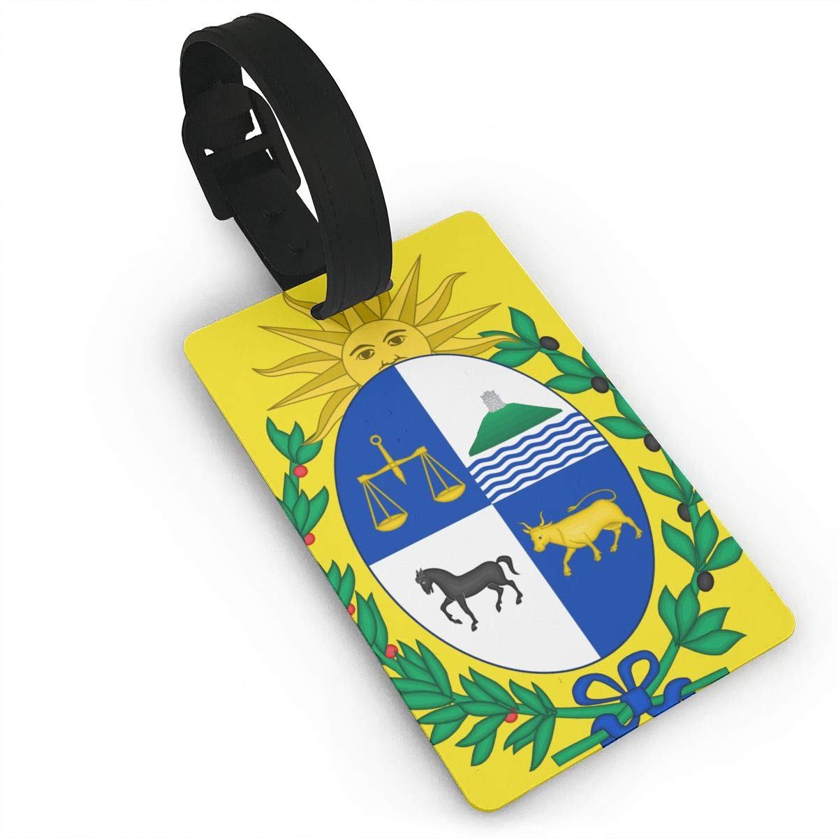 KODW12 Coat of Arms of Uruguay Luggage Tag Travel Bag Labels Suitcase Bag Tag Name Address Cards
