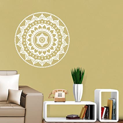 Amazon.com: Wall Sticker Flower,Mandala Wall Stickers,Flower Indian ...