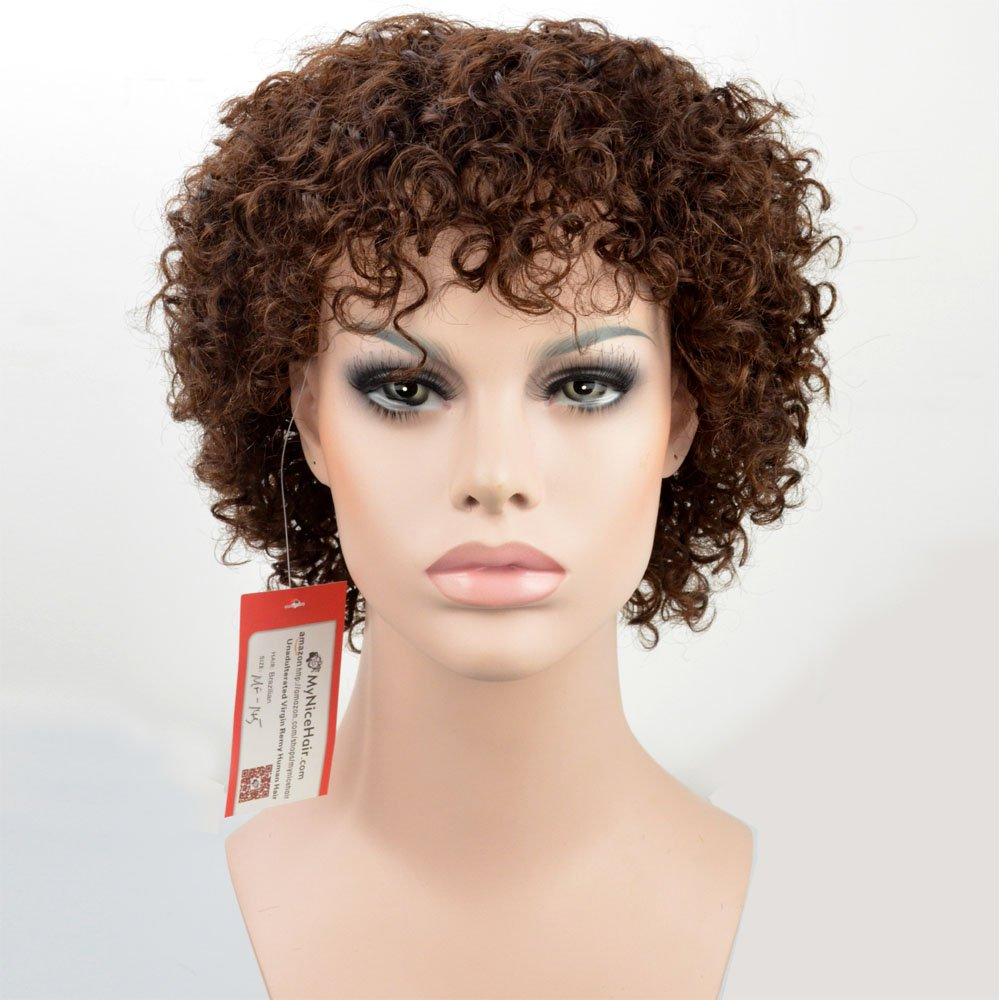 Amazon Com Sleek Afro Mixed Color 5 Quot Short Curly Wigs