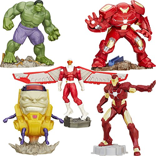 [Playmation Collection Bundle, Set 1: Hulkbuster, Iron Man, Incredible Hulk, Falcon, M.O.D.O.K.] (Ready For Action Military Costume)