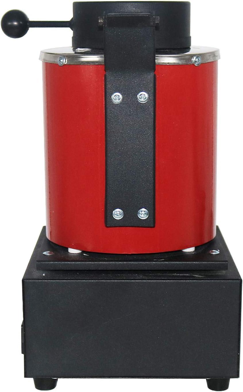 Mooteel 2KG Mini Metal Melting Furnace Small Melting Furnaces Jewelry Casting Equipment Jewelry Tools 1400W 110V