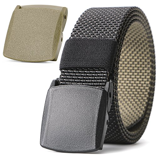 JASGOOD Men Belt Reversible Belt Nylon Belt Outdoor Hiking Belt Unisex Belt Tactical Belt 1.5