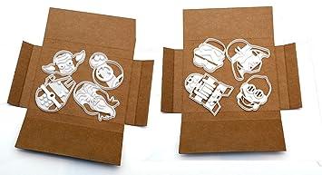 8 moldes de galletas de Star Wars deBB8, Chewbacca, R2D2, C3PO