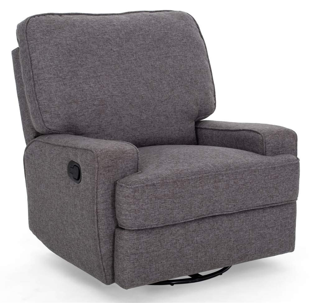 Noble House Crockett Traditional Glider Recliner with Swivel by Noble House