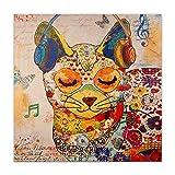 World Art TW60076 Aesthetic Wooden Frame Cat, 80x80x3.5 cm, Size: 32 x 32 x 2 Inch