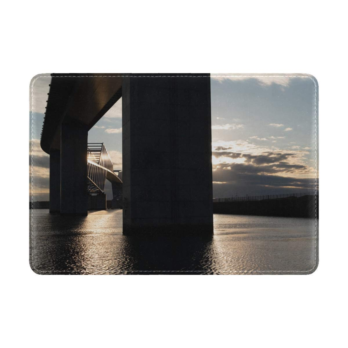 Bridge River Supports Leather Passport Holder Cover Case Travel One Pocket