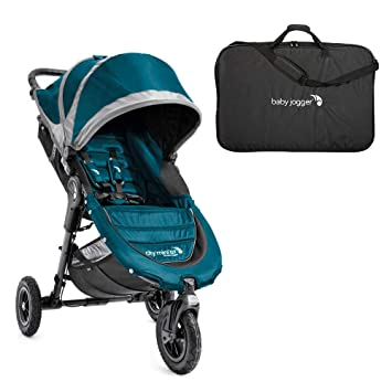 Baby Jogger Mini Gt Folding Stroller Teal Gray And Stroller Carry