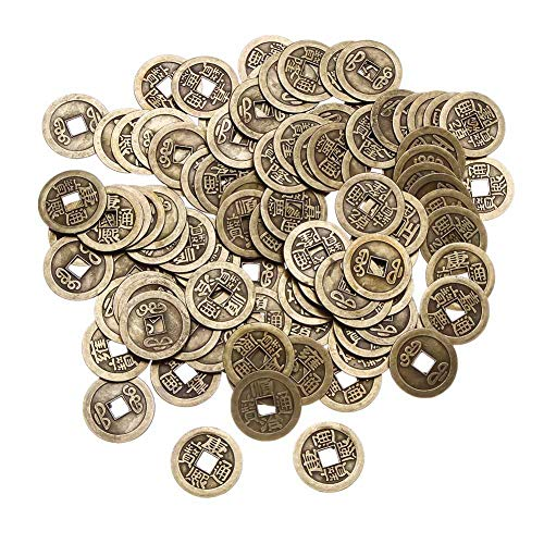 - Beautymei 100Pcs 1 Inch Chinese Fortune Coins Feng Shui I-Ching Coins Chinese Good Luck Coins Ancient Chinese Dynasty Time Coin DIY Crafts Chinese Knots