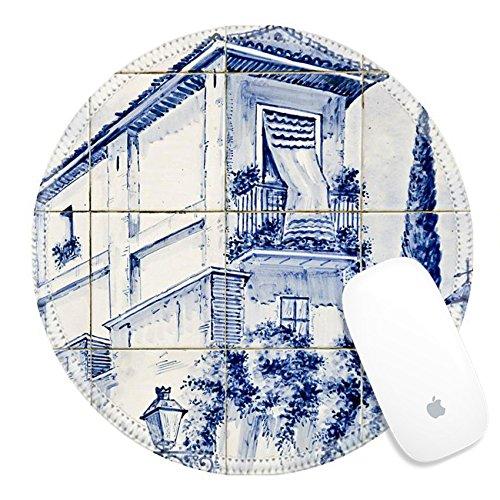 Luxlady Round Gaming Mousepad 22942644 spanish ceramic tile in Granada Spain (Ex Element Ceramic)