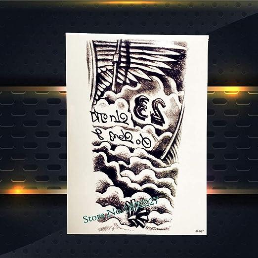 Yyoutop Damon Skull Designs Impermeable Extraíble Tatuaje Hombres ...