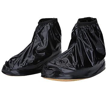 5f3881e817b Paire Couvre-chaussure Imperméable Hommes Surchaussures Pluie Housse de  Chaussure Réutilisable Antidérapant Semelles Epaissées (