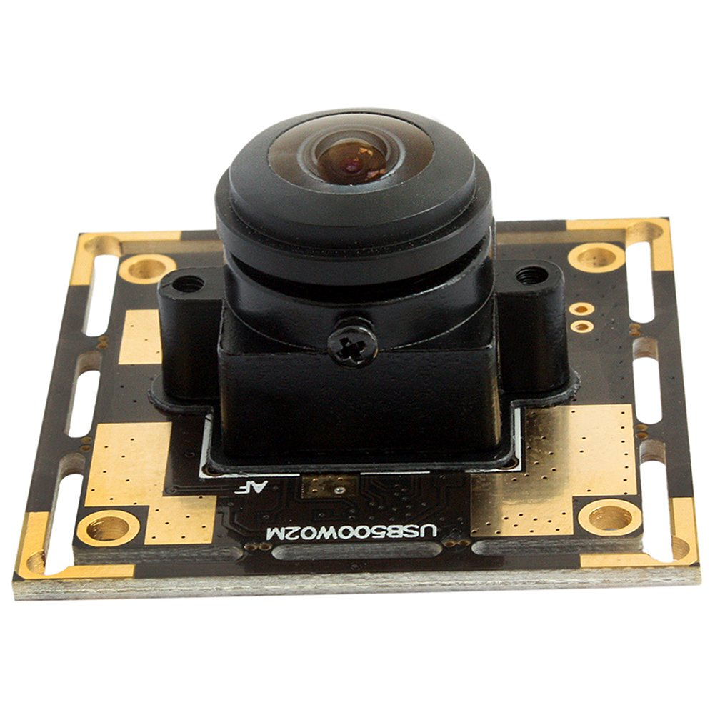 5 Magapixel USB Camera 170 Degree Fisheye Camera High Definition 2592X1944 USB Webcamera with CMOS OV5640 Image Sensor USB with Camera, Wide Angle Machine Vision Mini Webcam,Web Cams Plug&Play UVC