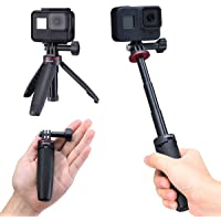 Selfie Stick for Gopro, Portable Vlog Selife Stick Tripod Stand for Gopro Hero 8/7/6/5 Black/Gopro Max DJI Osmo Action…