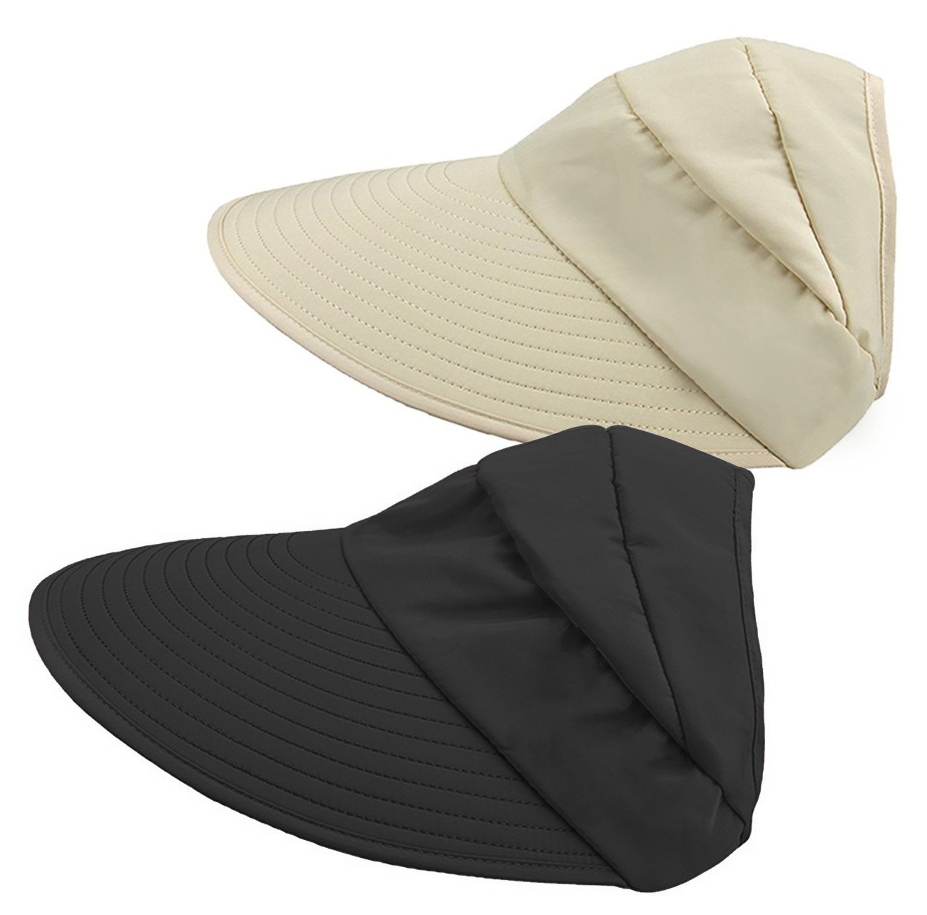 a0f0a06c23f53 HINDAWI Sun Hats Women Wide Brim UV Protection Sun Hat Summer Beach  Packable Visor product image