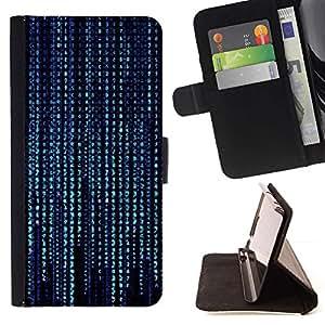 Momo Phone Case / Flip Funda de Cuero Case Cover - Modelo de Código Azul;;;;;;;; - Samsung Galaxy S5 Mini, SM-G800