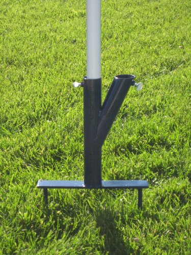 """THE ORIGINAL UMBRELLA STAND"" – USE ANYWHERE, SAND/GRASS/SOIL-STEEL COLOR BLUE WITH THUMBSCREWS, Outdoor Stuffs"