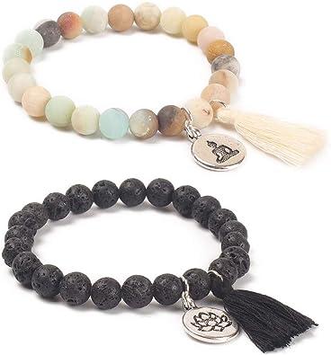 Womens Colorful Natural Stone Gemstone Handmade Beads Jewelry Bracelet Bangle Z