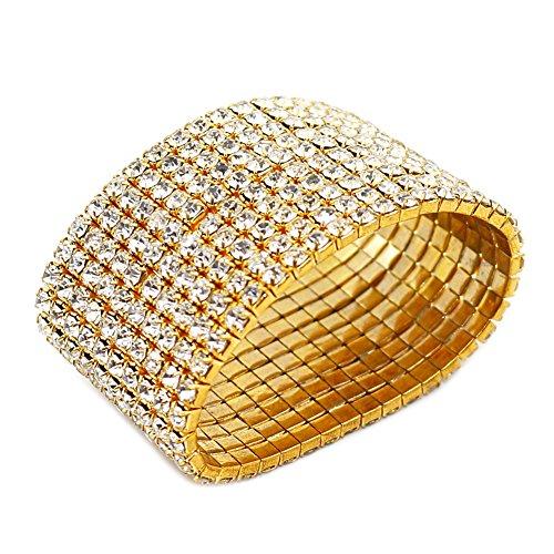 G10-JSEA Rhinestone Bracelet Stretch Womens Elastic Bracelet Bangles Girls Small Wrist