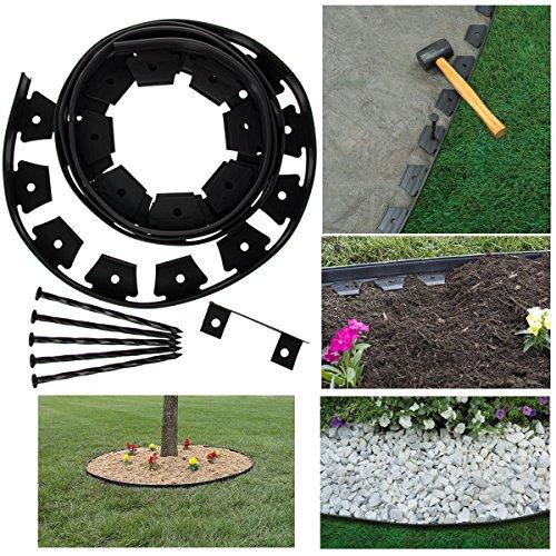 Dimex EasyFlex Tree Ring Kit 12ft Flexible Garden Border Edging No-Dig Pound In - Garden Ring