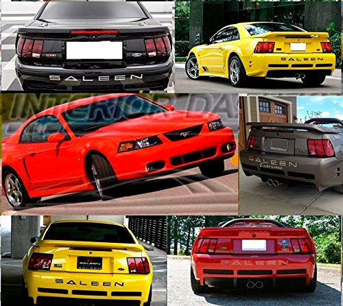 - EXTERIOR REAR BUMPER LETTERS EMBLEM INSERTS INDENTATION TAILGATE LOGO SET FOR 2001 2002 2003 2004 FORD MUSTANG SALEEN