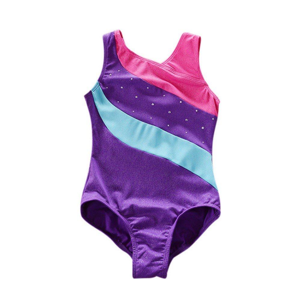 2a7d05c32 ESHOO Girls Sleeveless Gymnastics Leotards Ballet Dance Dancing Wear ...