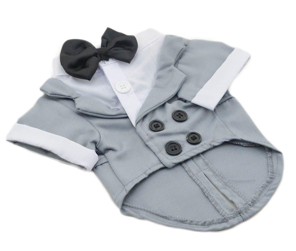 Amazon.com : X-Large Grey Formal Dog Tuxedo Costume by Midlee : Pet ...