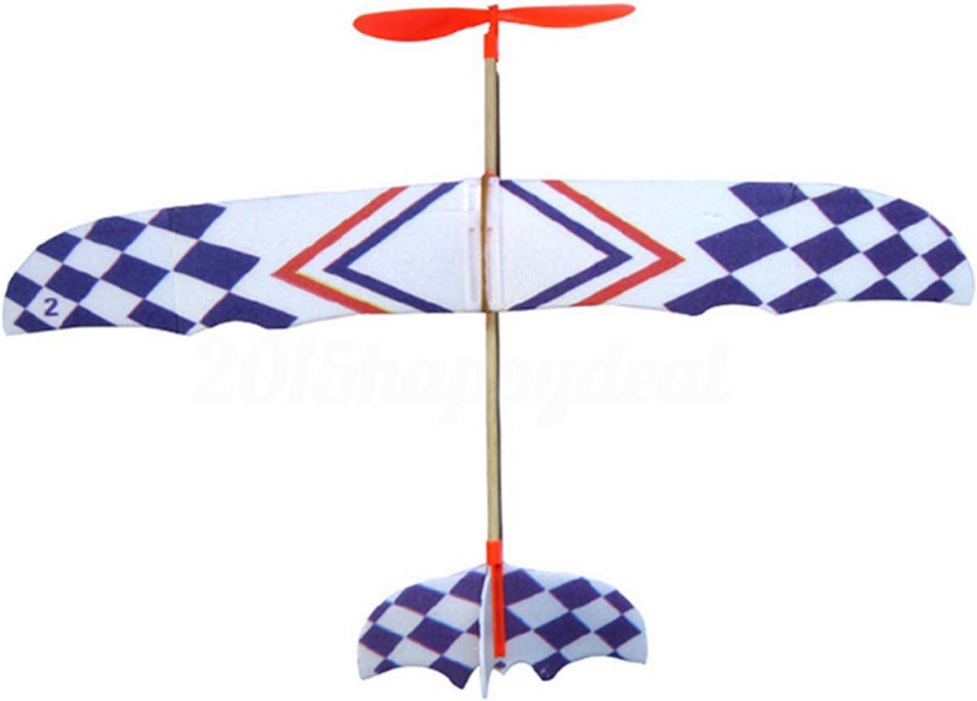 YDong Banda de Goma EláStica Powered DIY Foam Plane Modelo Kit Aviones Juguete Educativo