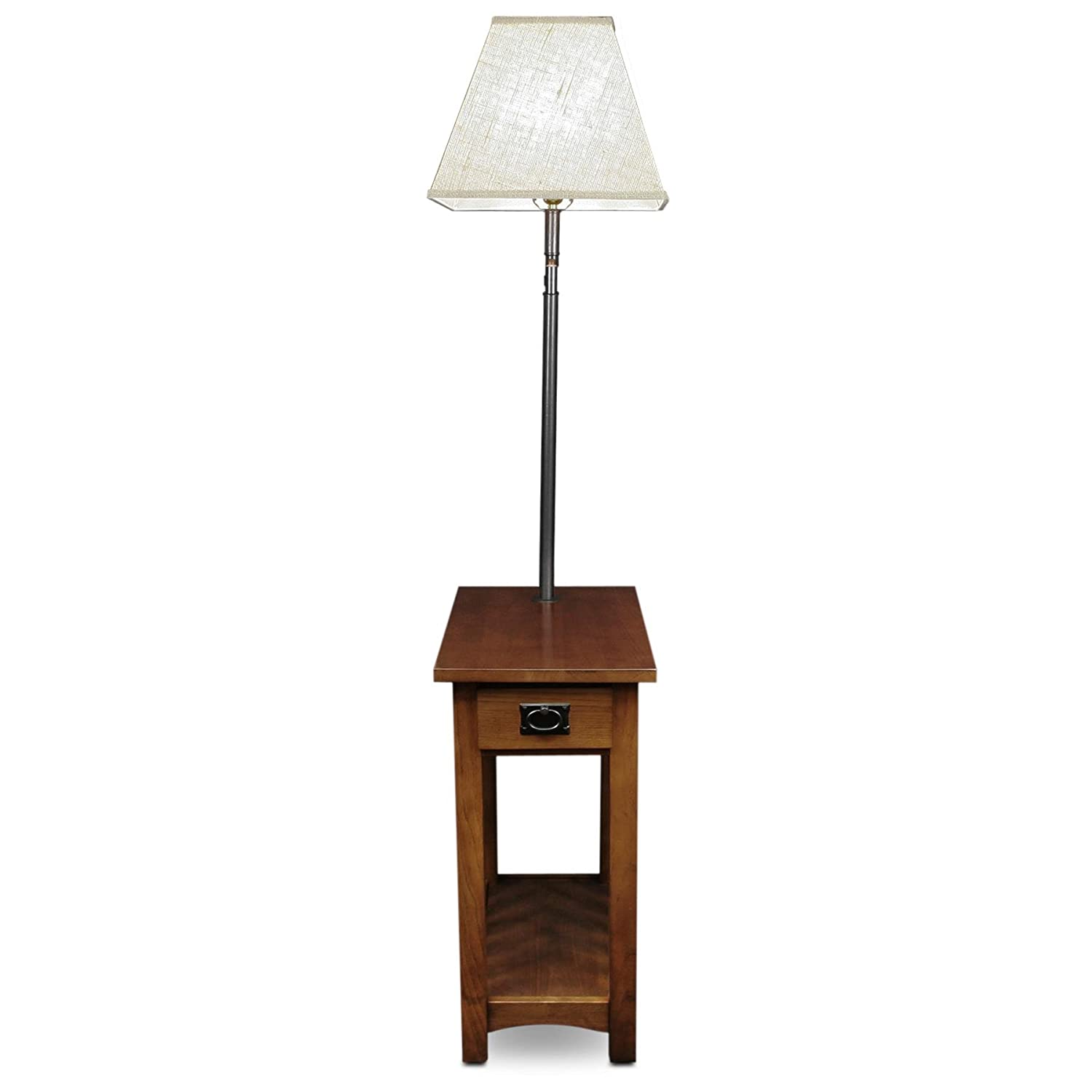 Amazon Leick Mission Chairside Swing Arm Lamp Table Kitchen