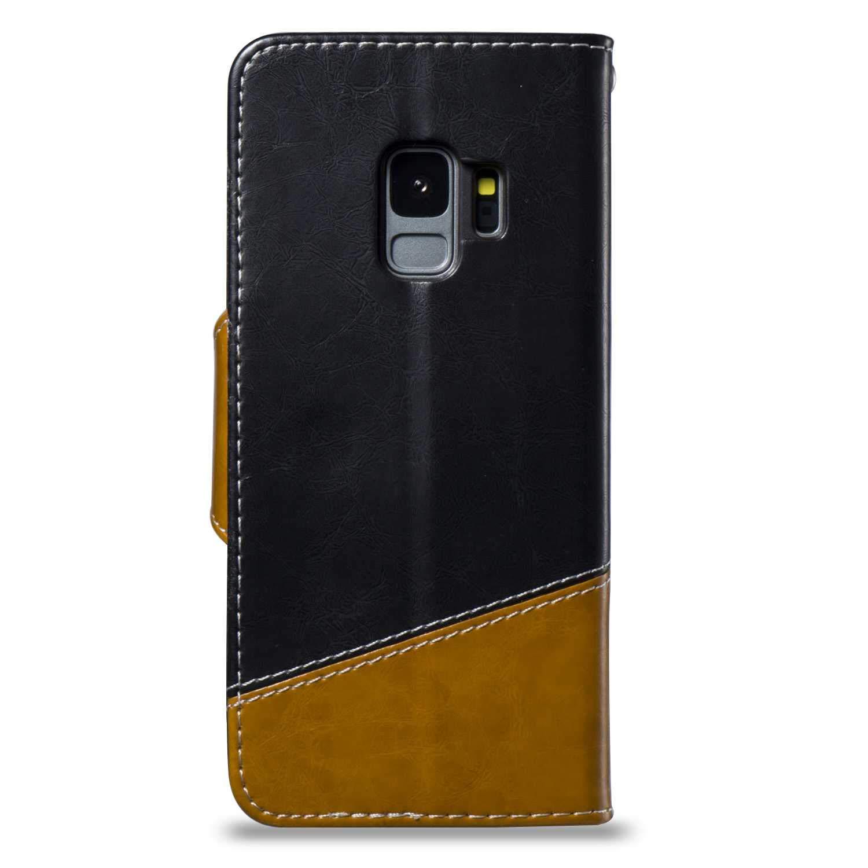 /Étui en PU Cuir /à Rabat Coque de Protection Housse Portefeuille avec Fonction Support pour Samsung Galaxy S9 Bear Village/® Coque Samsung Galaxy S9 #1 Brun