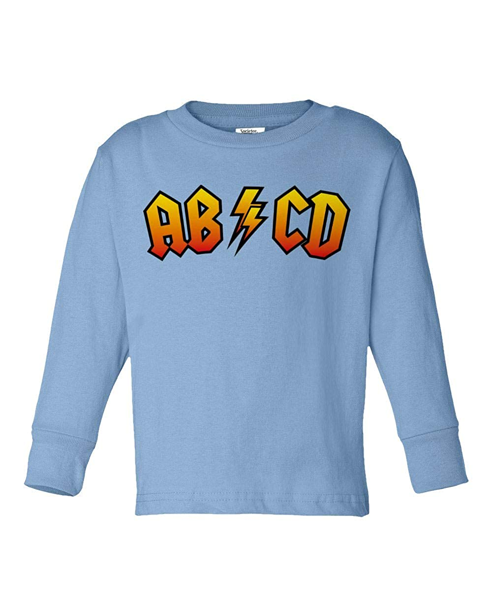 Societee ABCD Funny Cool Girls Boys Toddler Long Sleeve T-Shirt