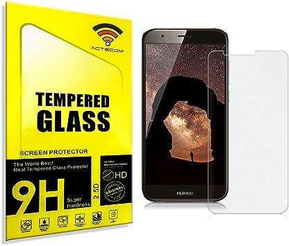cogac ACTECOM® Cristal Templado Protector Pantalla 9H 2.5D para Huawei G8 GX8 con Caja: Amazon.es: Electrónica