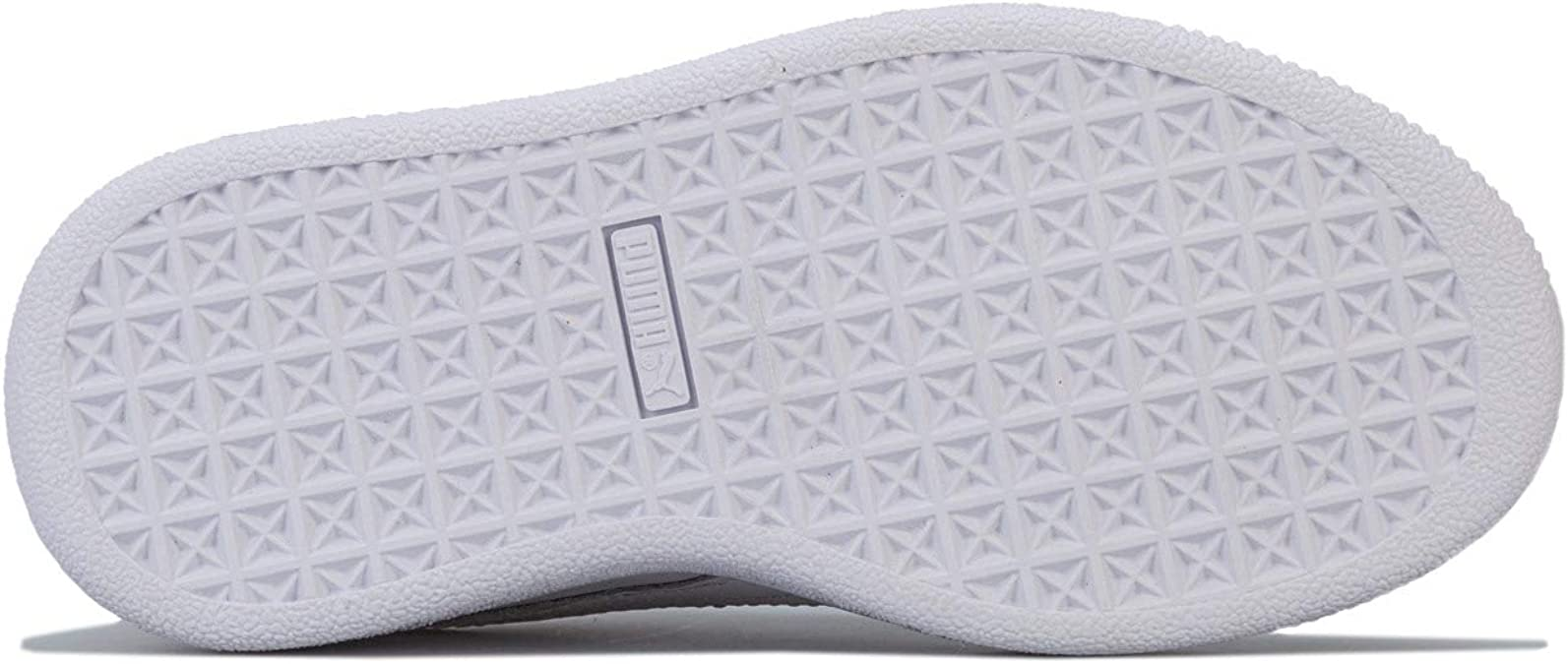Children Girls Puma Basket Badge Trainers In White Cushioned Insole Padded