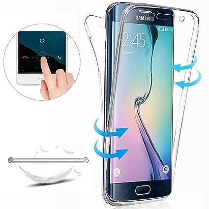3d8c5fb94d5 Funda Samsung Galaxy S6 Edge Carcasas Versión [Cover 360 Grados], Doble  Delantera +