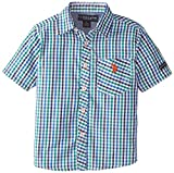 U.S. Polo Assn. Little Boys' Single Pocket Plaid Sport Shirt